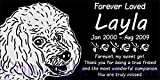 Personalized Toy Poodle Pet Memorial 12''x6'' Engraved Black Granite Grave Marker Head Stone Plaque LAY1