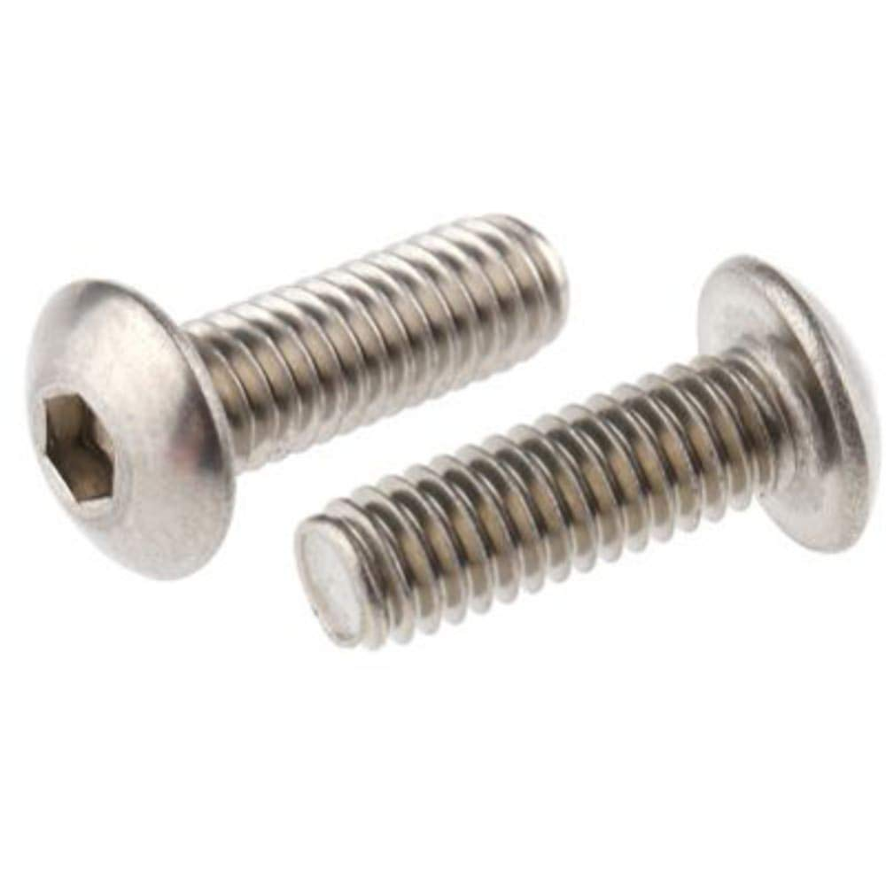 Hex Socket Button Stainless Steel PlainSocket Screw; M4x12mm - Pack of 10