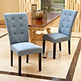 Christopher Knight Home 295200 Angelina Dining Chair (Set of 2), Denim Blue For Sale