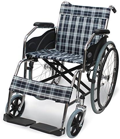 [スポンサー プロダクト]ケアテックジャパン 自走式 スチール製 折りたたみ 車椅子 ウィッシュ CS-10