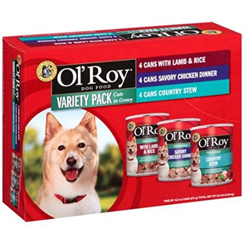 Ol' Roy Cuts in Gravy Wet Dog Food Variety Pack, 13.2-Ounce (Pack of 12)