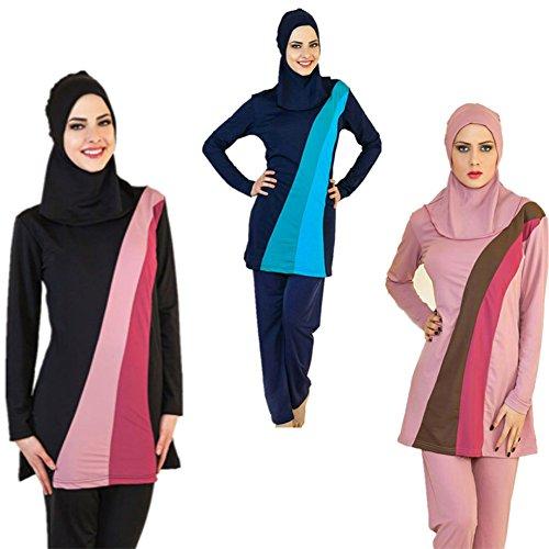 YEESAM® Musulmán trajes de baño - Modest Encuadre de cuerpo entero del traje de baño de las mujeres islámicas burkini