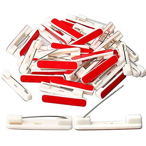 - Hugesavings 100pcs 1.46 inches Safety Bar Pins, Adhesive Badge Crafting Pins For ID Badges, Nametags, Ribbons, and Crafting