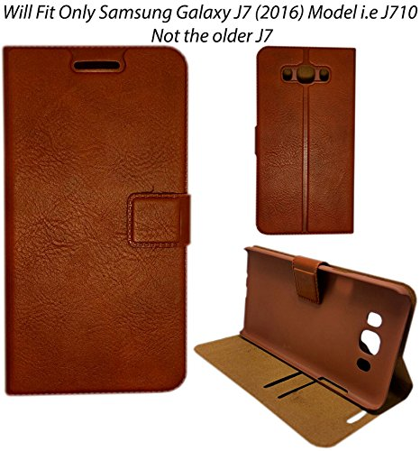 finest selection 497bd 1d9f4 MACC Business Premium Faux Leather Flip Case Flip Cover for Only Samsung  Galaxy J7 (2016) SM-J710 - with Stand , Magnetic Lock, Card & Currency  Wallet ...