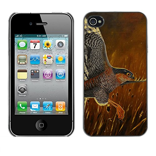 Premio Sottile Slim Cassa Custodia Case Cover Shell // F00028878 Sparrowhawl soar // Apple iPhone 4 4S 4G