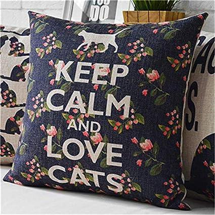 Amazon.com: Retro Vintage Throw Home Decorative Cotton Linen ...