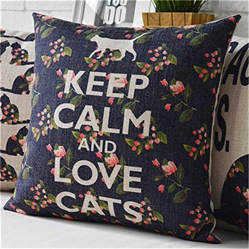 Amazon.com: Retro Vintage Throw Home Decorative Cotton Linen ...