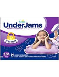 UnderJams Disposable Bedtime Underwear for Girls Size...