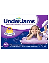 Pampers UnderJams Bedtime Underwear Girls Size S/M, 50 Count BOBEBE Online Baby Store From New York to Miami and Los Angeles
