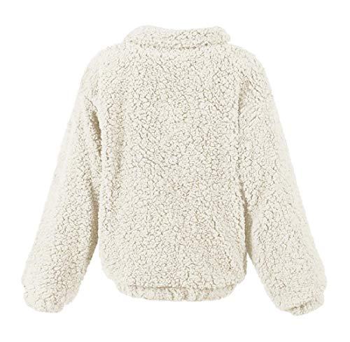 Tenere Giacca Beige Eco Energywomen Bianco Caldo pelliccia In Cappotto Pile Peluche Outwear vzBqnXBT