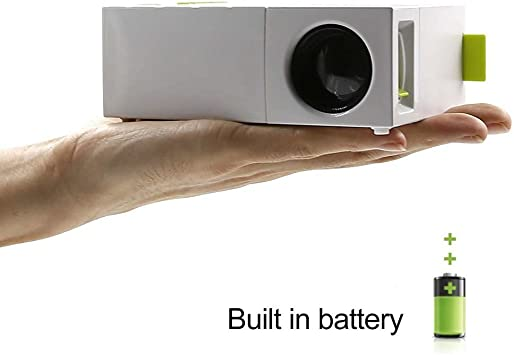 Mini Proyector Portatil, HuiHeng Portable Proyector de bolsillo ...