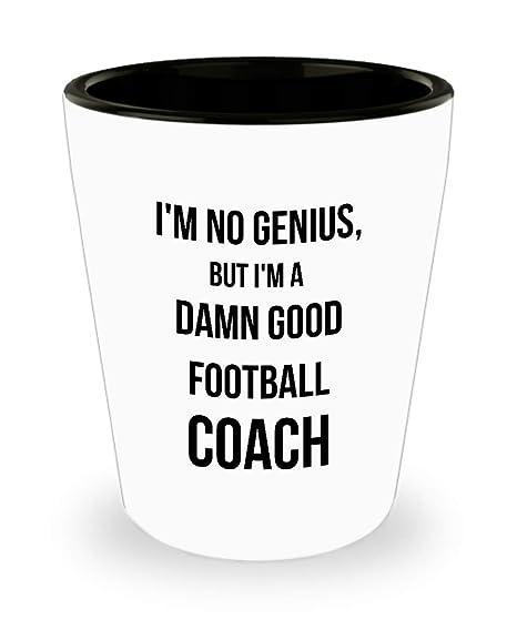 Amazon.com: Vaso de chupito para entrenador de fútbol - Soy ...