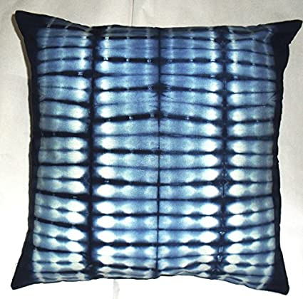 Amazon Com Indigo Cushion Cover Decorative Throw Tie Dye Pillow