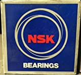 NSK NJ214W Cylindrical Roller Bearing, Standard Capacity, Removable Inner Ring, Flanged, Pressed Steel Cage, Normal Clearance, Metric, 70mm Bore, 125mm OD, 24mm Width, 5000rpm Maximum Rotational Speed, 95000N Static Load Capacity, 83500N Dynamic Load Capa