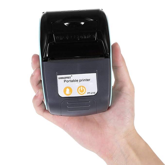 Hemobllo Impresora térmica inalámbrica pequeña cortadora de ...
