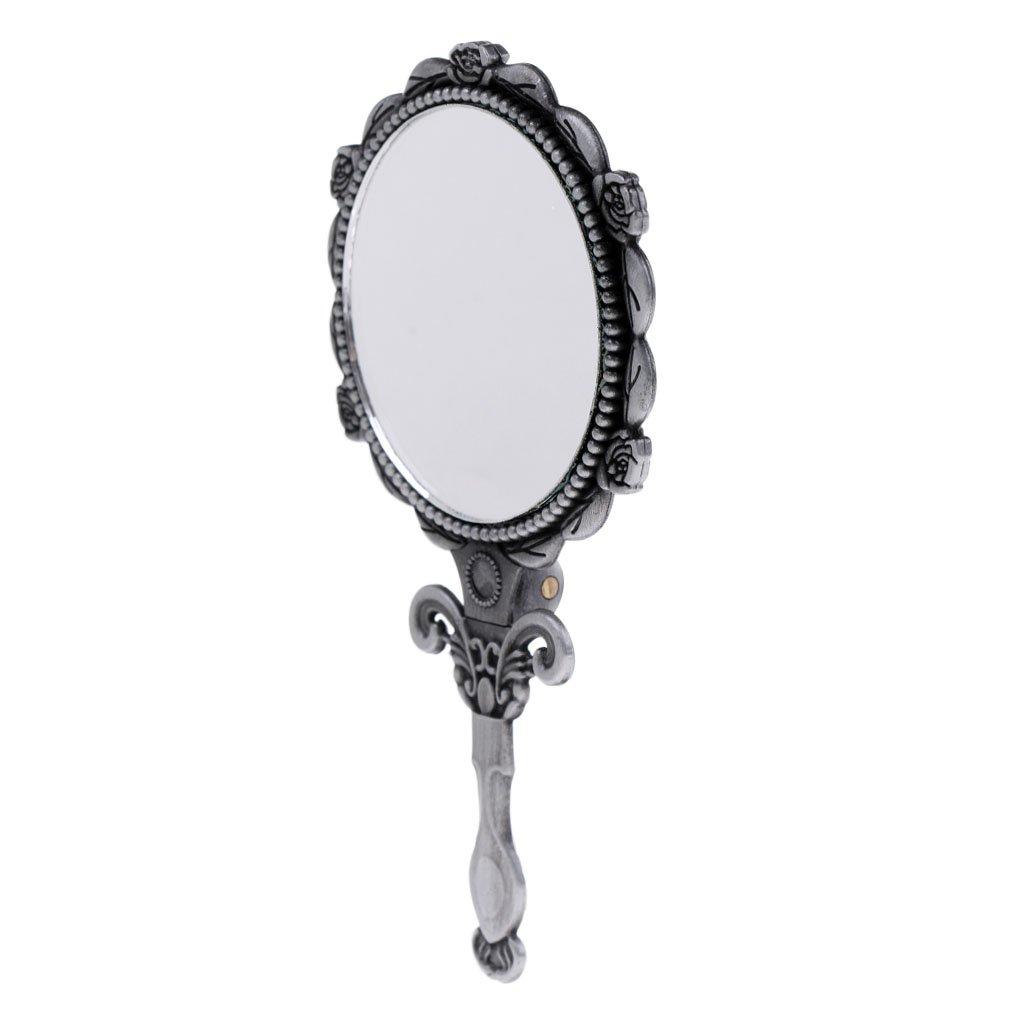 Sharplace Handspiegel Retro Kosmetik-Spiegel mit klappbar Griff. Perfektes Geschenk für Damen und Frauen - Bronze