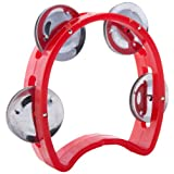D'Luca TW-4RD 4-Inch Child's Tambourine, Red