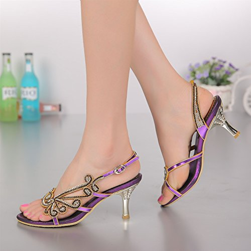 Prom Heel Color Evening Bridal Women's A 35 Fashion Party Shoes Low Summer Leather Size Boots Wedding Sandals 8qSBU