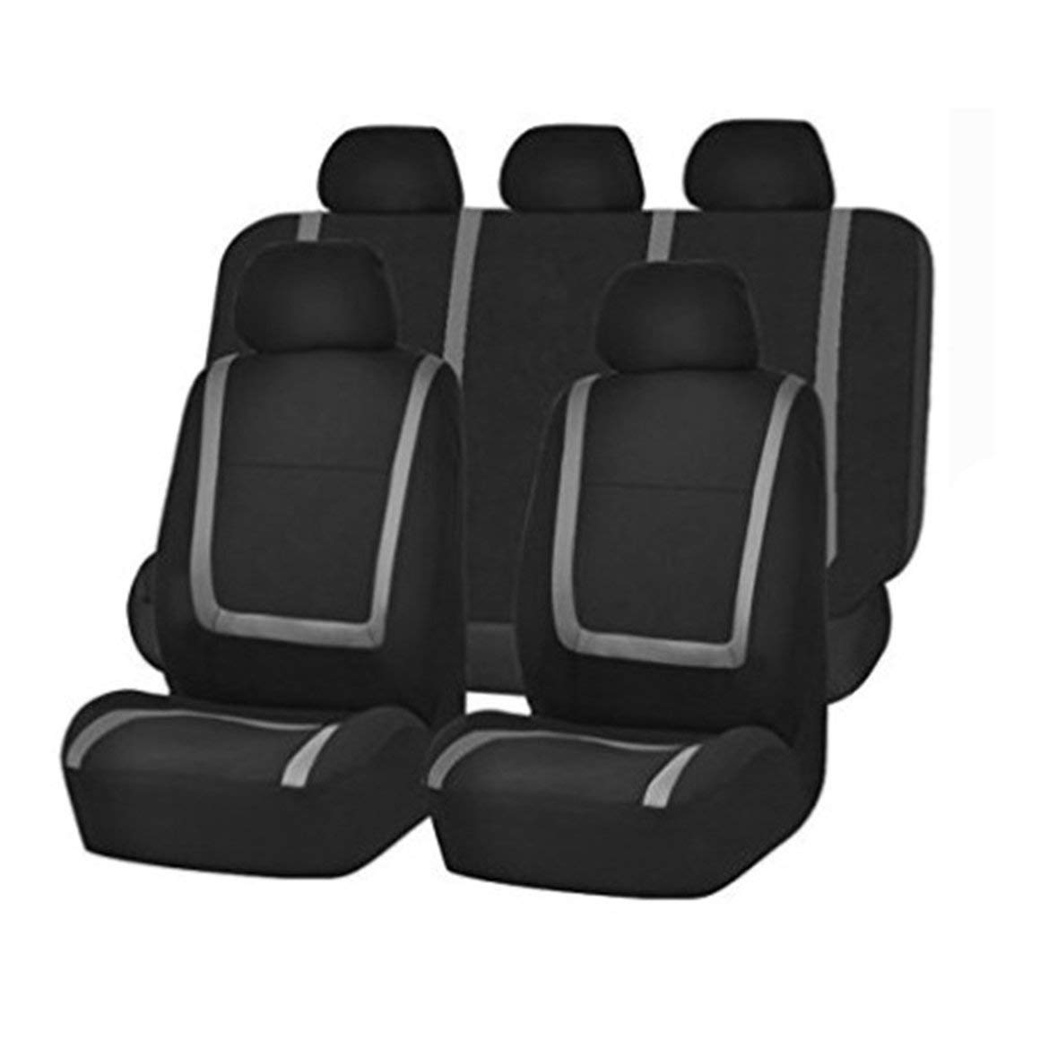 Funnyrunstore 9 pezzi//set Moda coprisedili auto a strisce antipolvere lavabile Proteggi sedile universale coprisedili per auto arancione