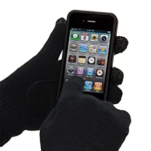 Deluxe Black Leather Grip Touch Screen Gloves - Stylish Accessories