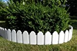 Beautiful Fence in Set Lawn Edging/Flower Bed Edging Palisade Flowerbed Border Garden Fence Lawn /Garden/White 2.36m Fencing, Viewing Height 18cm