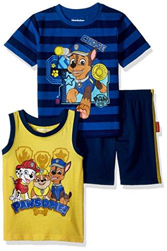 Nickelodeon Baby Boys Paw Patrol 3 Piece Short Set, Blue, 24M by Nickelodeon