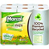Marcal Small Steps U Size It Giant Paper Towel Roll, 2-Ply 100% Premium Recycled, White