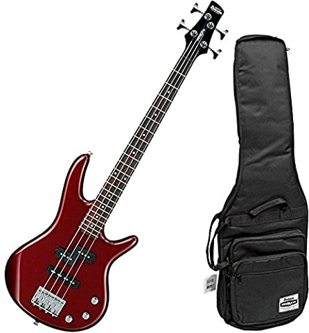 Ibanez Mikro GSRM20 Short Scale 4 String Root Beer Metallic Bass with Gig Bag (Bass Gig Bag Ibanez)
