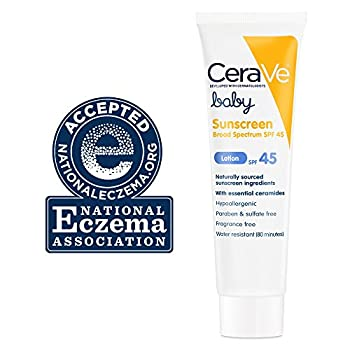 Cerave Baby Sunscreen Spf 45 3.5 Oz With Mineral Sunscreen & Ceramides For Protecting Baby's Delicate Skin From Sun's Damaging Rays 1