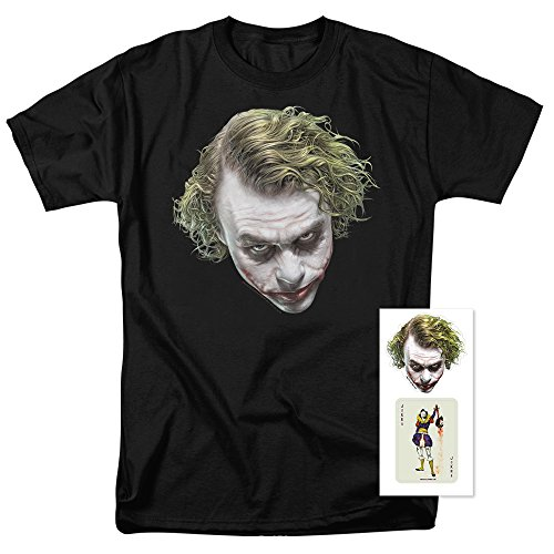 Popfunk The Dark Knight Heath Ledger Painted Joker Head T Shirts & Exclusive Stickers (X-Large)