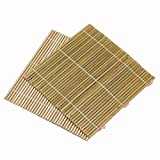 JapanBargain Set of 6 Bamboo Sushi Rolling Mats 9-1/2 Inches Square
