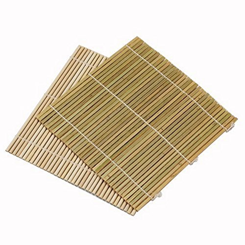 Sushi Rolling Mat (JapanBargain Set of 6 Bamboo Sushi Rolling Mats 9-1/2 Inches Square)