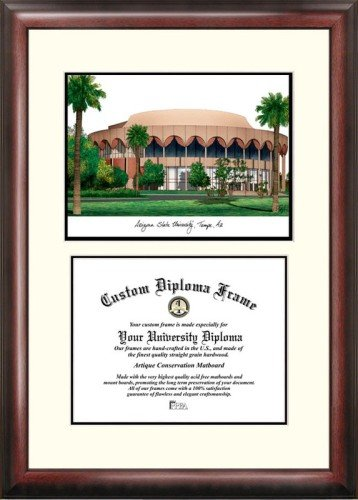 Arizona State Framed University Lithograph (Arizona State University Scholar Framed Lithograph with Diploma)