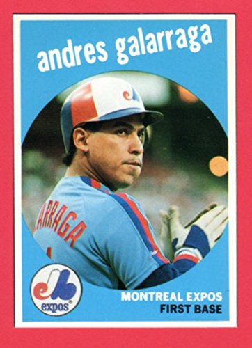 Andres Galarraga 1959 Topps Style From 1989 Baseball Card Magazine