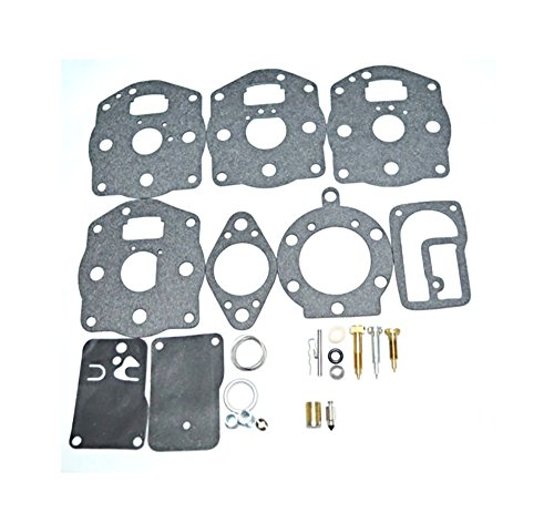 Oriental Power Carburetor Rebuild Kit Replacement for Briggs & Stratton Carb Overhaul Kit 394502 491539 694056 (Cylinder Twin Power)