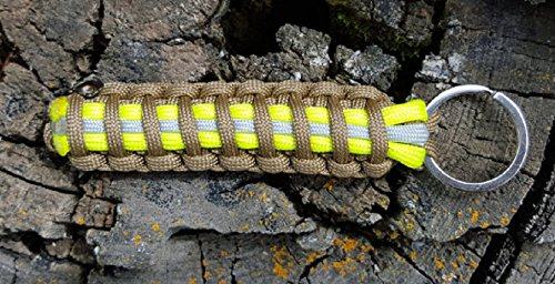 Firefighter Bunker Gear Paracord Key Chains - Yellow/Khaki