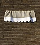 Custom Grapevine Valance Curtain Sheer Natural Linen Scalloped Kitchen Window Topper Review