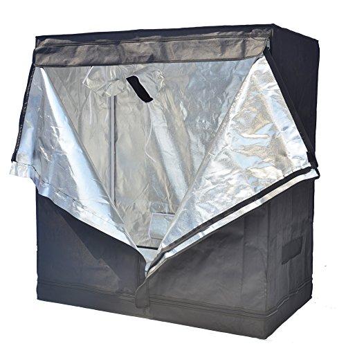 """51Z2EXEvt6L - Smart Indoor Grow Tent 43""""x25""""x48"""" 600D Heavy Duty High Mylar Waterproof Grow Room for Indoor Plant Growing 4'x4'"""
