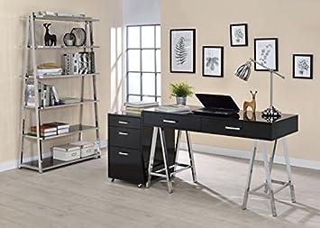 Amazon.com: Major-Q Modern Home Office Furniture High Gloss ...