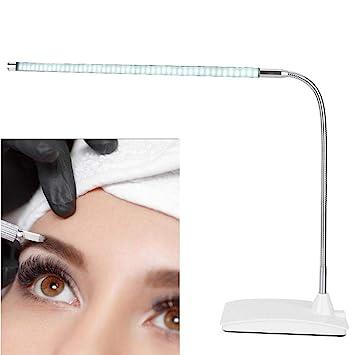 Adjustable 10W Beauty Nail Tattoo Makeup Table Light Lamp Bending Free 48 Beads