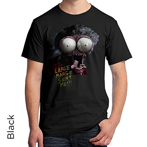 Large Marge from Pee Wees Big Adventure Men's T-Shirt 379 (X-Large, Black)