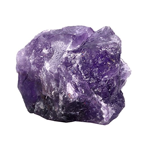 (PESOENTH 0.1 lb Rough Amethyst Crystal Quartz Rock Natural Chakra Stone for Cabbing,Tumbling,Lapidary,Polishing, Wicca &Reiki Healing Crystal Balancing (1.18