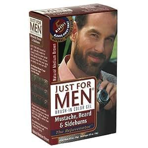 Amazon.com : Just For Men Brush-In Mustache, Beard & Sideburns ...