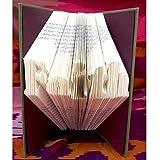 Hand Folded Book Gift, Art Sculpture, Faith