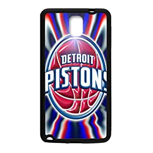 Detroit Pistons NBA Black Phone Case for Samsung Galaxy Note3 Case