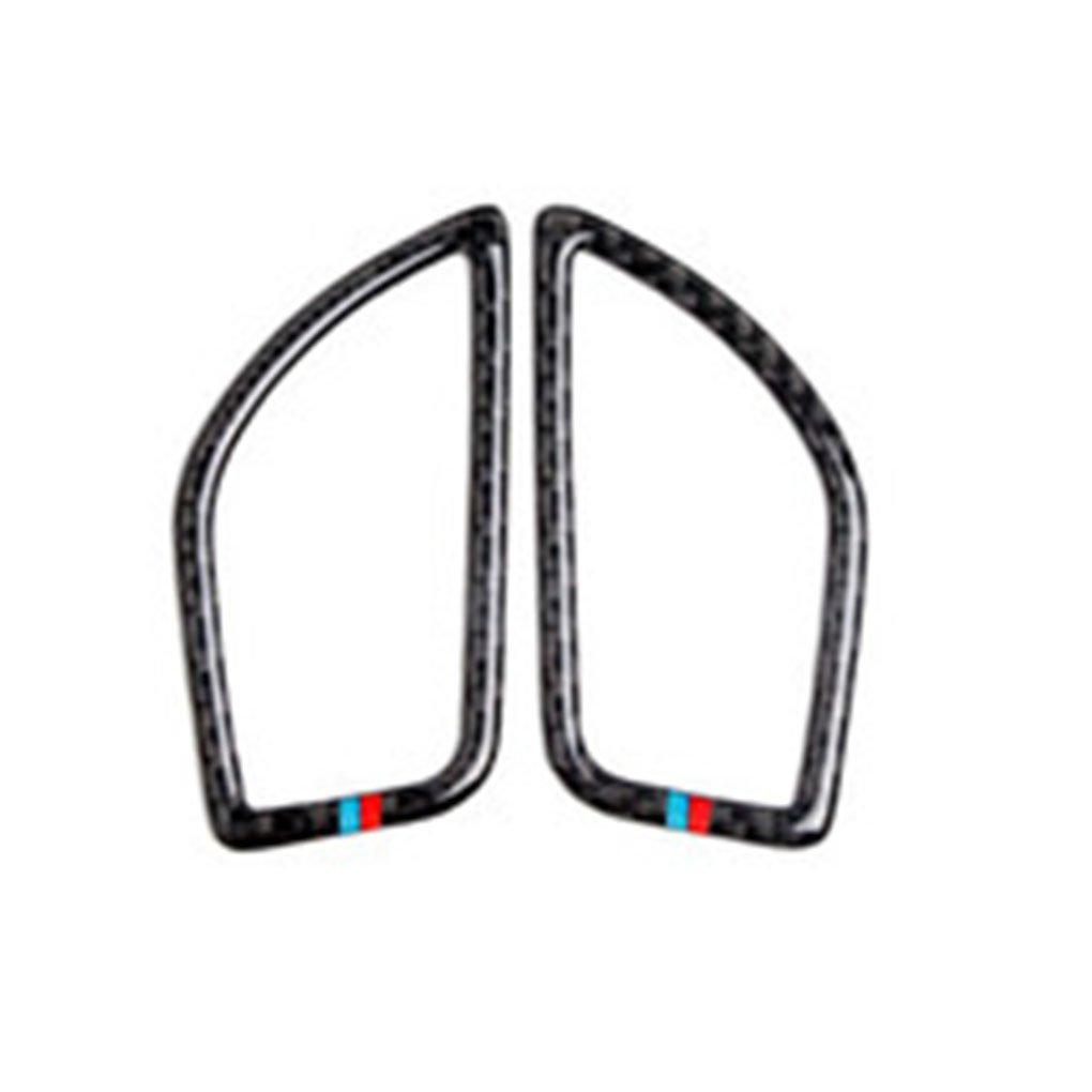 Aiming 2pcs / Set Aire Acondicionado Vent Cubierta del Enchufe de Acabado y decoración de Fibra de Carbono Pegatina para BMW 1 Serie 2 Serie F21 F20 2012-2017
