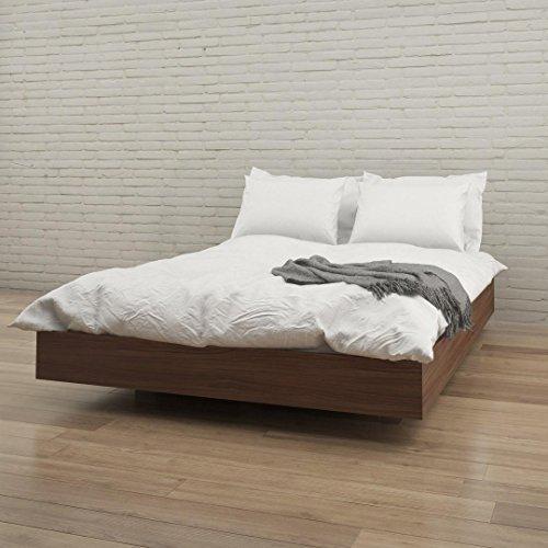 Nexera 346031 Alibi Queen Size Platform Bed, Walnut
