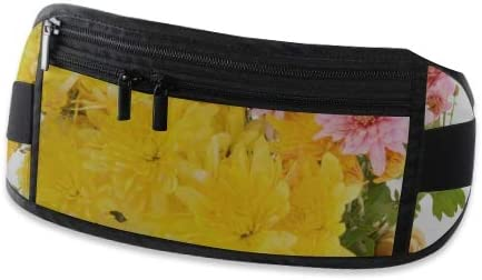 Beautiful Bouquet Chrysanthemum Flowers Basket Isolated Running Lumbar Pack For Travel Outdoor Travel Waist Pack,travel Pocket With Adjustable Belt