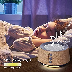 White Noise Machine for Baby Sleep & Relaxation, Letsfit Sound Machine with 14 Soothing Soundtracks, Adjustable Night-light Sleep Machine for Nursery, Office Privacy and Traveling. Wood Grain Edition