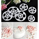 KOOTIPS 6Pcs/Set The Perfect Rose Ever Cutter/Cake Decorating Gumpaste Flowers Rose Ever Small Cutter Cookie Cutters
